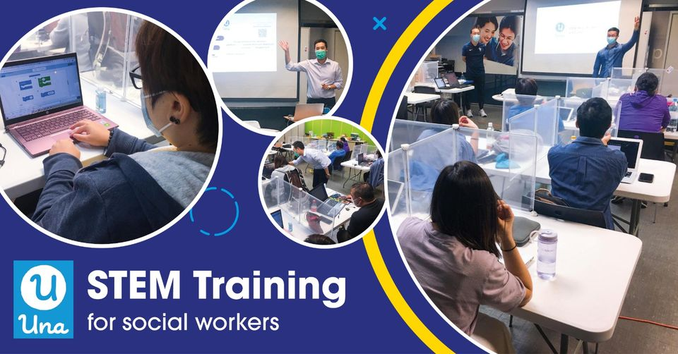 STEM Training Workshop for social workers, co-organized with Charter Global