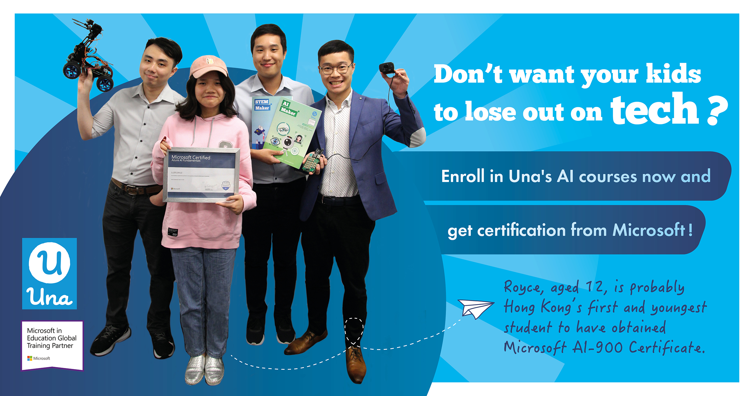 Hong Kong's first and youngest student to have obtained Microsoft AI-900 Certificate