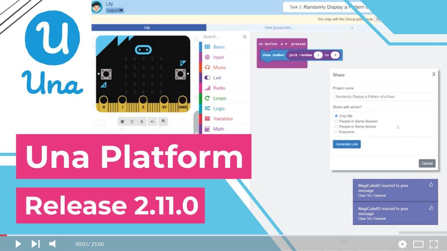 Una Platform – Release 2.11.0: Shareable Link