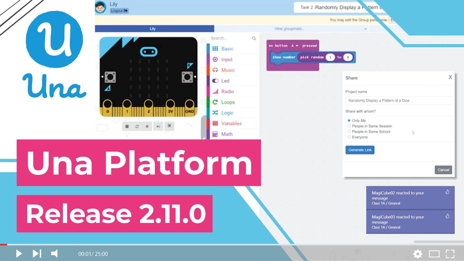 Una Platform - Release 2.11.0: Shareable Link